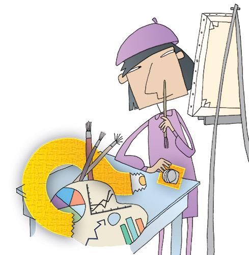 Illustration of an artist