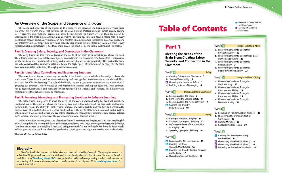 In Focus (Grades 3-5) Pages x and xi